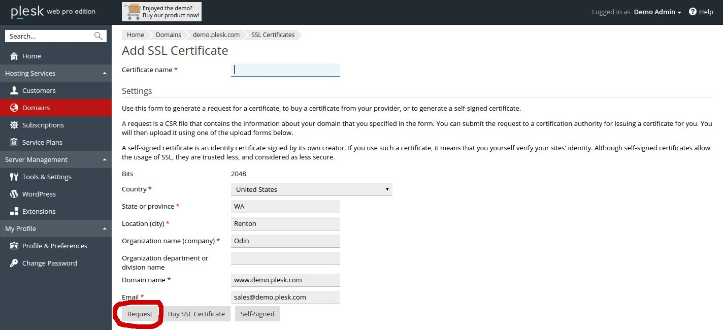 Generate csr certificate signing request in plesk hostonnet request ssl in plesk 125 xflitez Image collections
